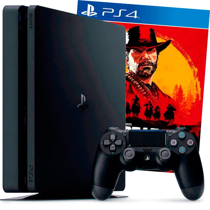 PS4 Slim 1Tb и Red Dead Redemption 2