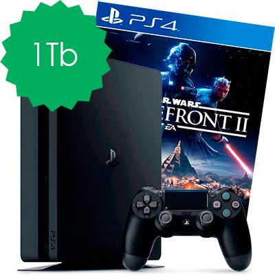 PS4 Slim 1Tb и Battlefront II