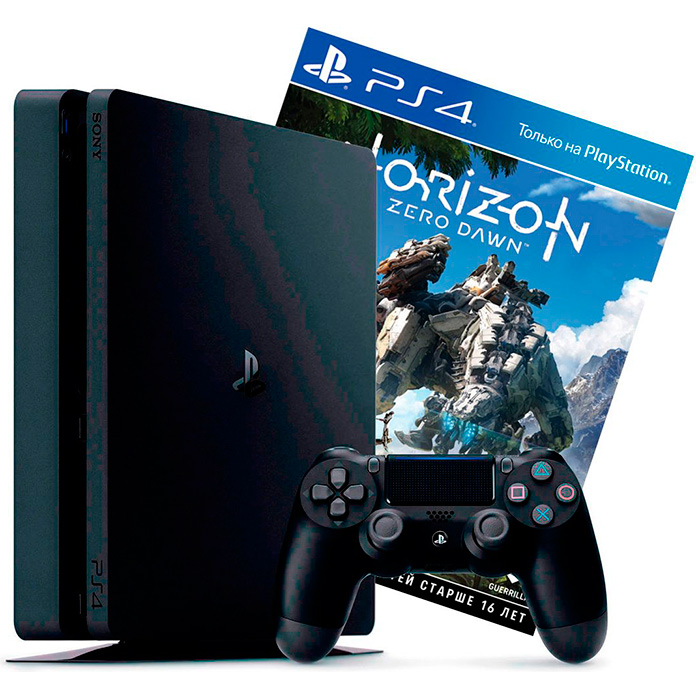 PS4 Slim 500Gb и Horizon Zero Dawn