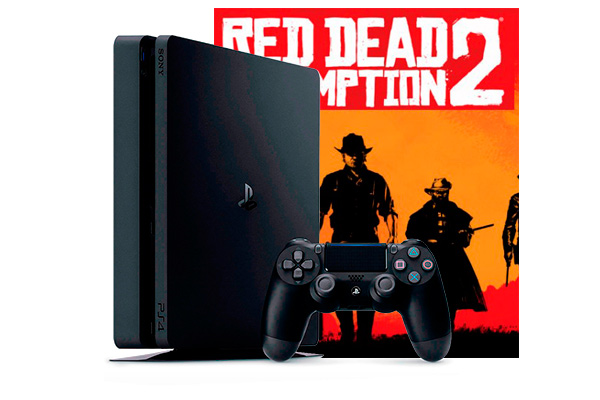 PlayStation 4 Slim 500Gb с игрой Red Dead Redemption 2 [PS4S5RDR2]
