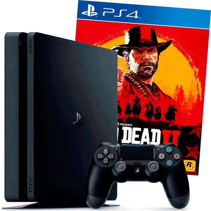PS4 Slim 500Gb и Red Dead Redemption 2