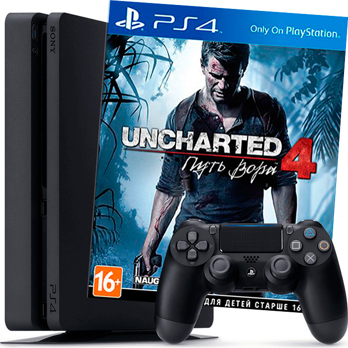PS4 500Gb и Uncharted 4