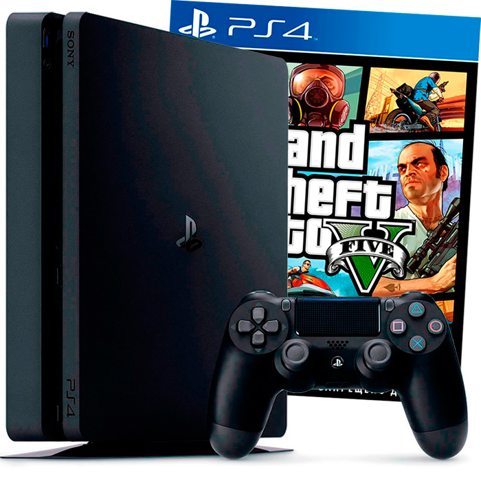 PlayStation 4 Slim 500Gb и GTA 5