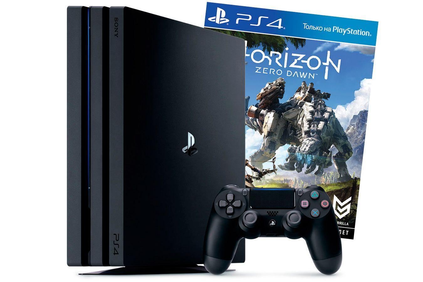 PlayStation 4 Pro 1Tb игровая приставка с игрой Horizon Zero Dawn [PS4P1HZ]