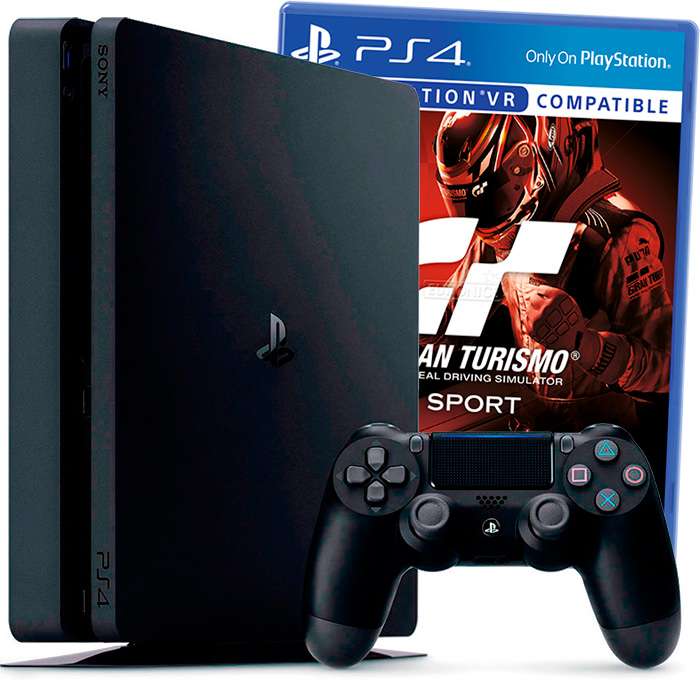 PlayStation 4 Slim 1Tb и Gran Turismo Sport