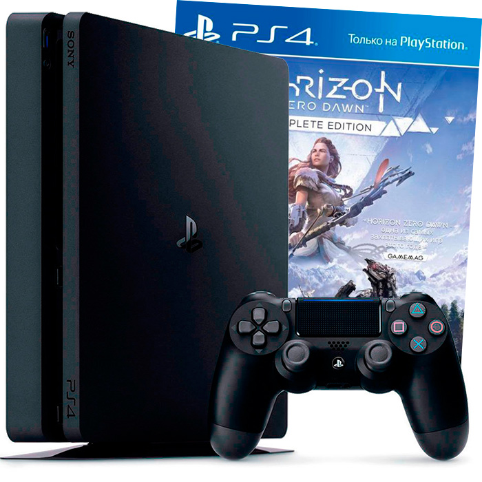 PS4 Slim 1Tb и Horizon Zero Dawn