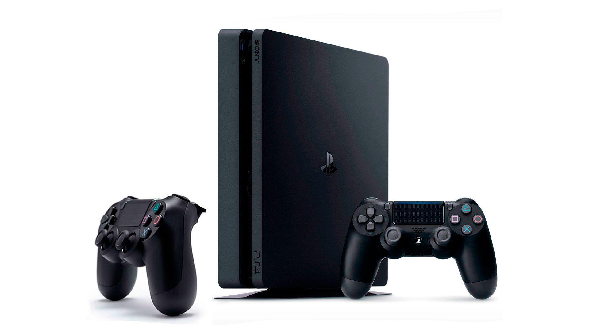 PlayStation 4 Slim 1Tb 2 джойстика и игровая приставка [PS4S1J2]