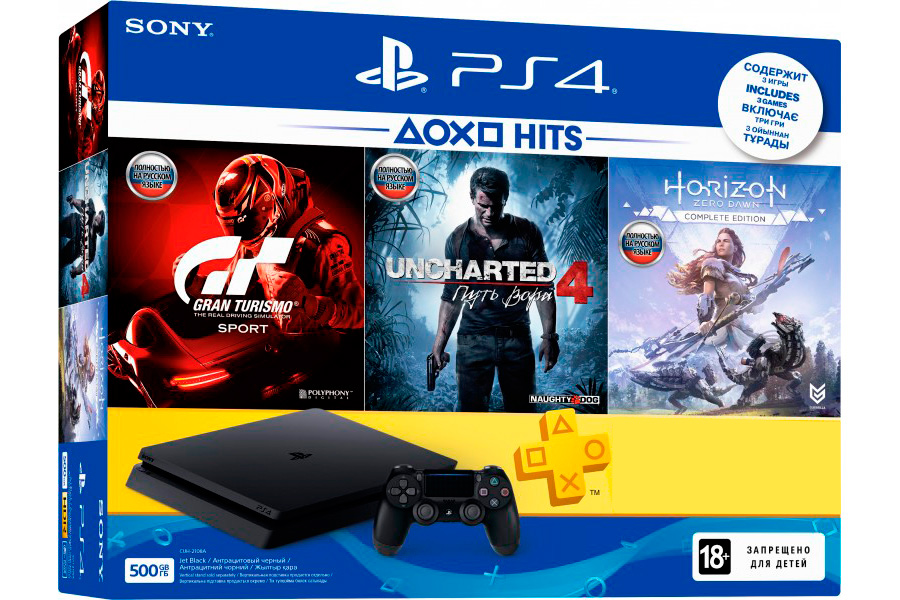 PlayStation 4 Slim 500Gb и 3 игровых хита [PS4S53Hi]
