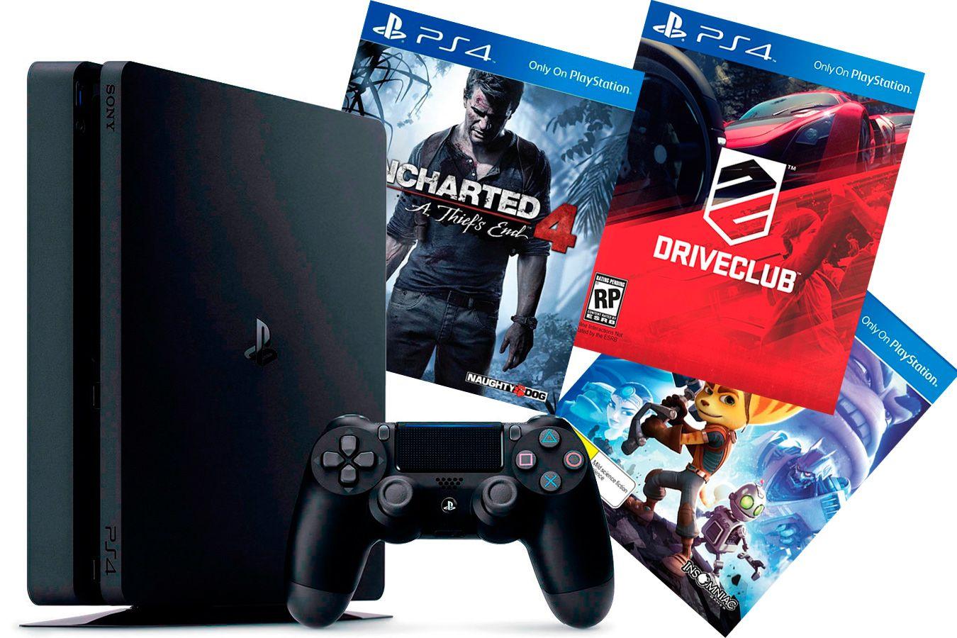 PlayStation 4 Slim 500Gb игровая приставка и 3 хита [PS4S53H1]