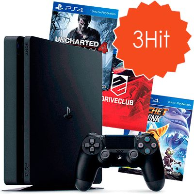 PlayStation 4 Slim 500Gb и 3 хита