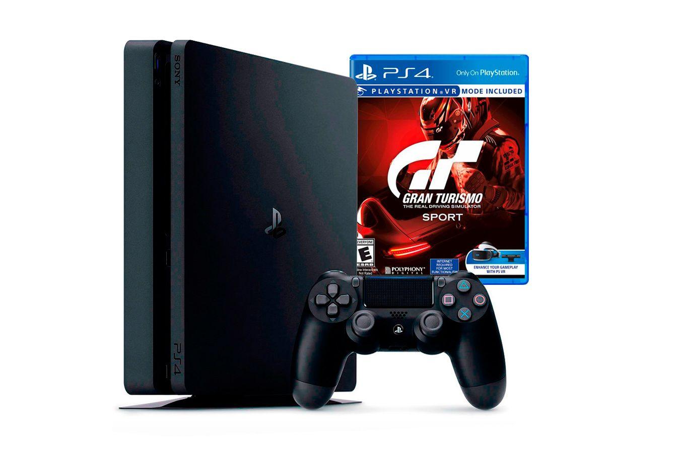 PlayStation 4 Slim 500Gb с игрой Gran Turismo Sport [PS4S5GTS]