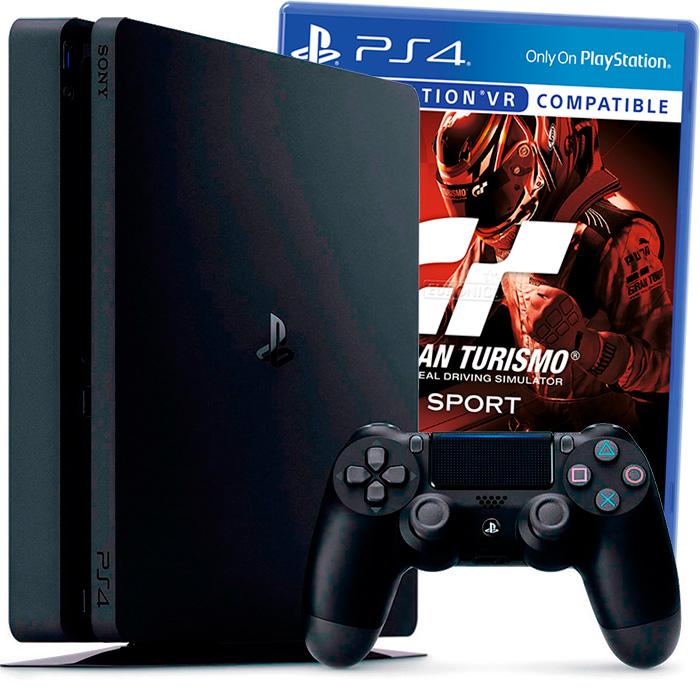 PlayStation 4 Slim 500Gb и Gran Turismo Sport