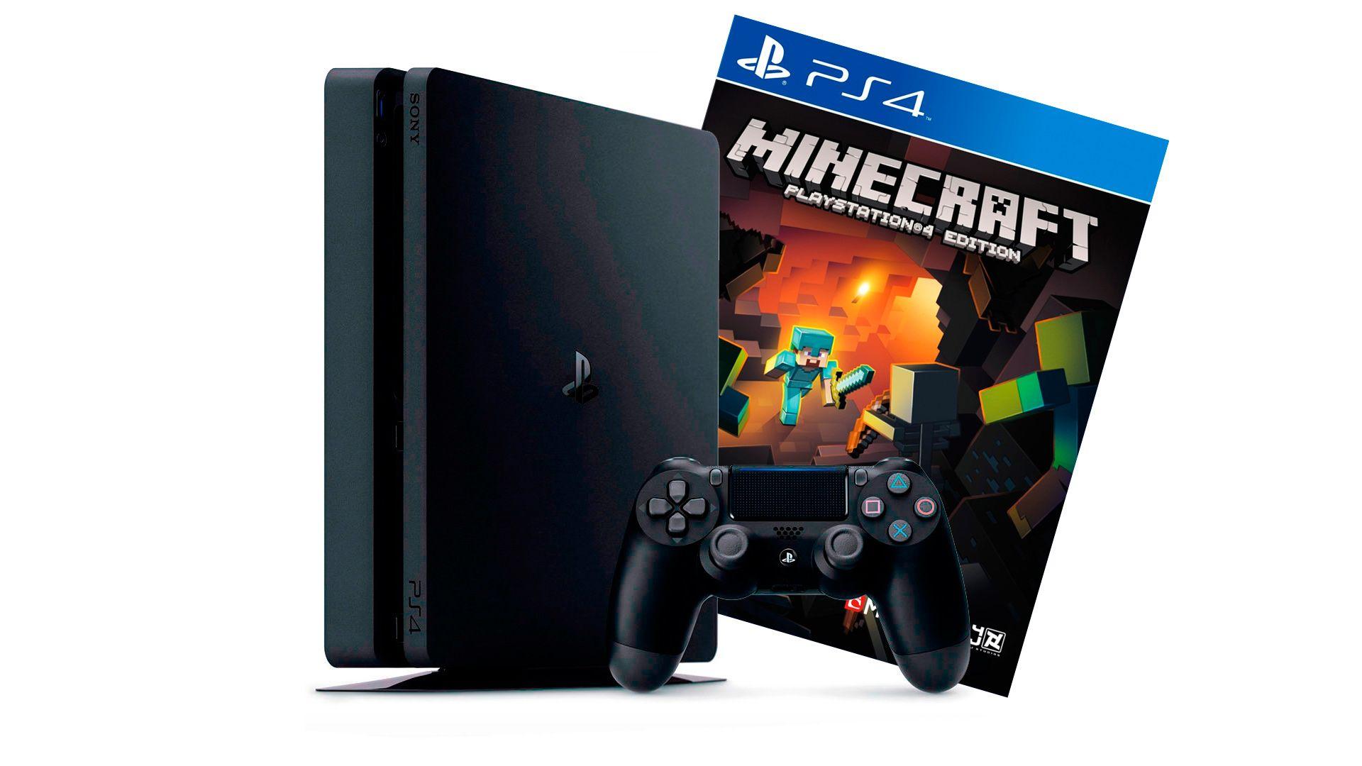 PlayStation 4 Slim 500Gb игровая приставка с игрой Minecraft [PS4S5MK]