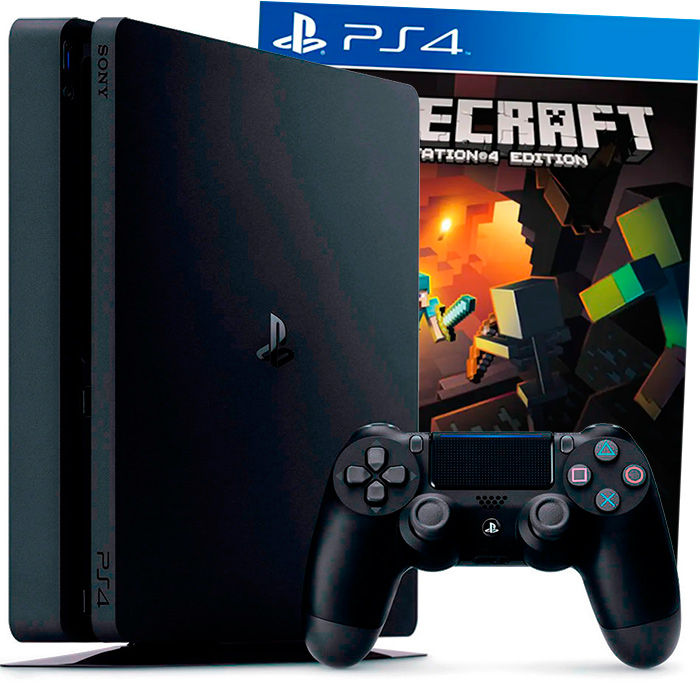 PlayStation 4 Slim 500Gb и Minecraft