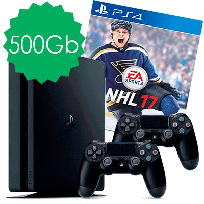 PlayStation 4 Slim 500Gb NHL 17 и 2 джойстика