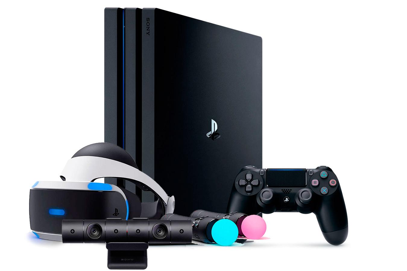 PlayStation 4 Pro и шлем VR набором Launch Bundle [PS4P1VRL]