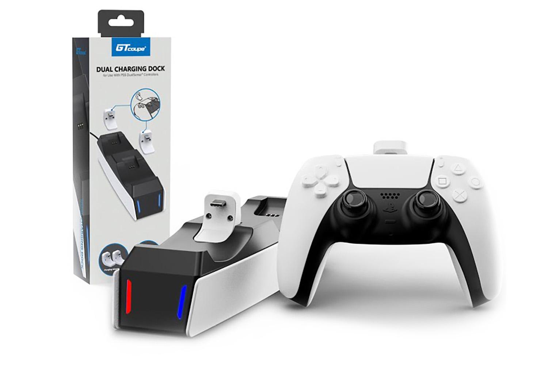 Беспроводная зарядка GT для 2-х джойстиков DualSense [PS5ADSCGT]
