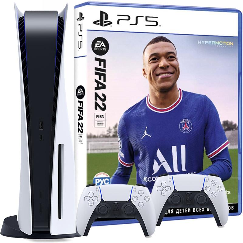 PS5 FIFA 22 2 джойстика
