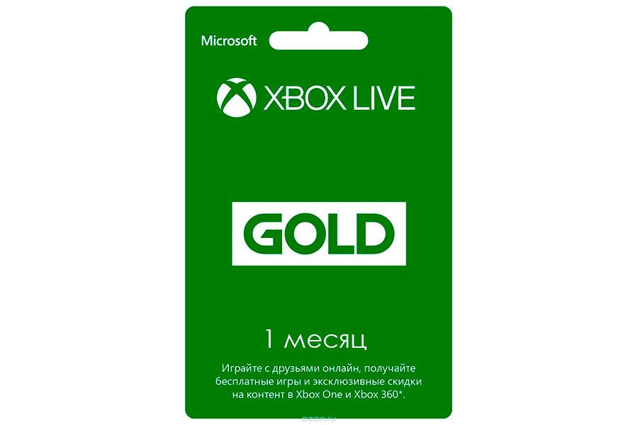 Xbox Live Gold на 1 месяц подписка, цифровая версия [XBL01]