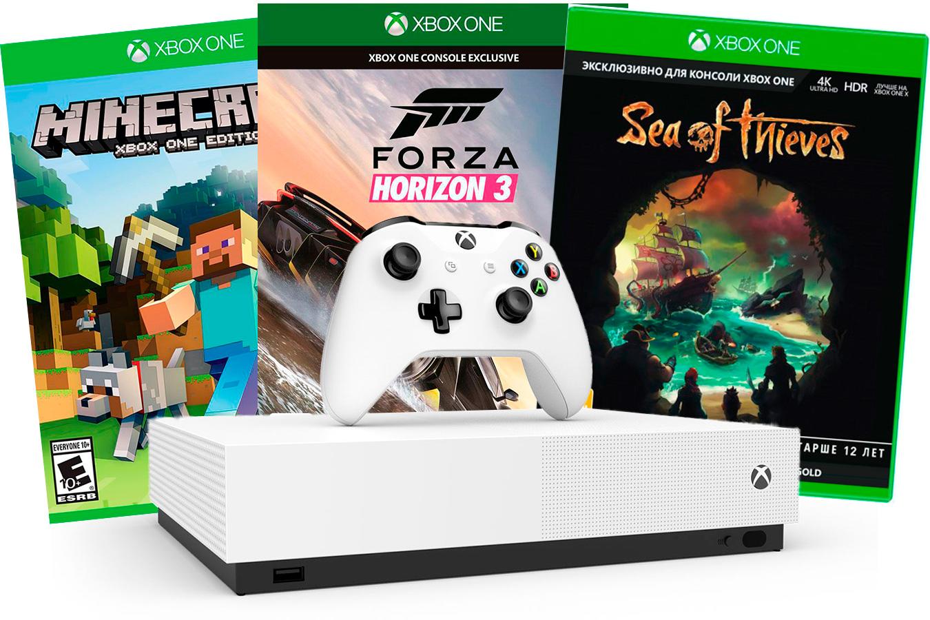 Xbox One S All-Digital Edition и 3 игровых хита [SXO1AD]