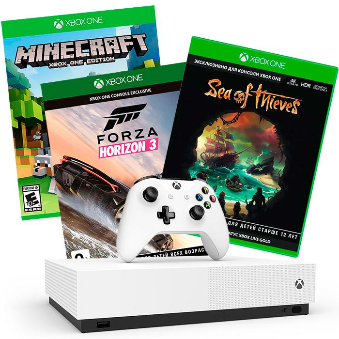 Xbox One S 1Tb и 3 хита