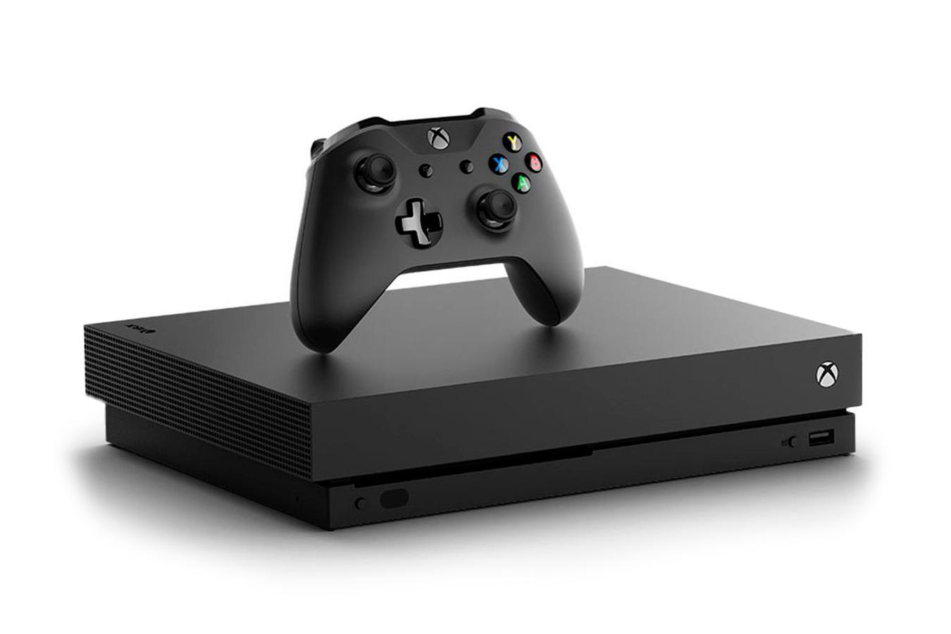 Xbox One X черная игровая приставка [XXO1Z]