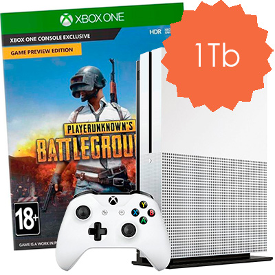 Xbox One S 1Tb BattleGrounds