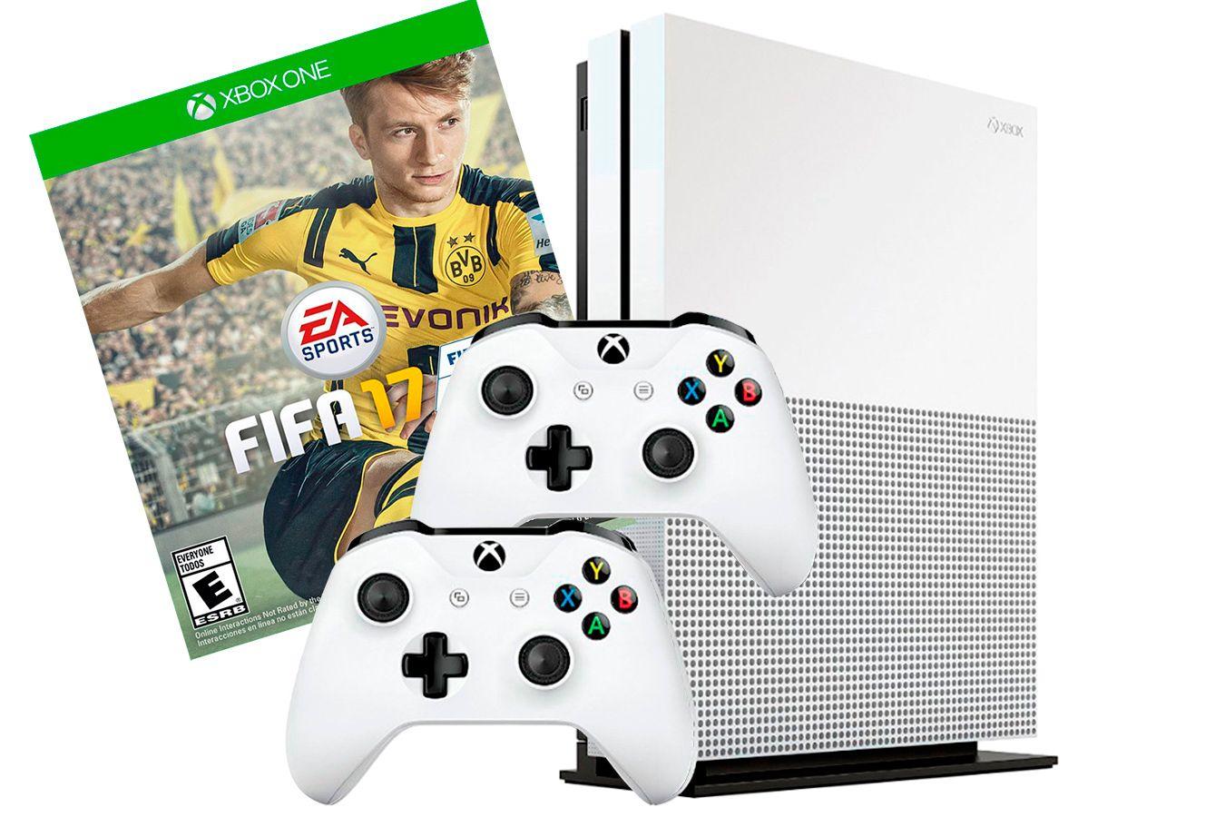 Xbox One S 1Tb 2 джойстика, FIFA 17 и игровая приставка  [SXO1F2]