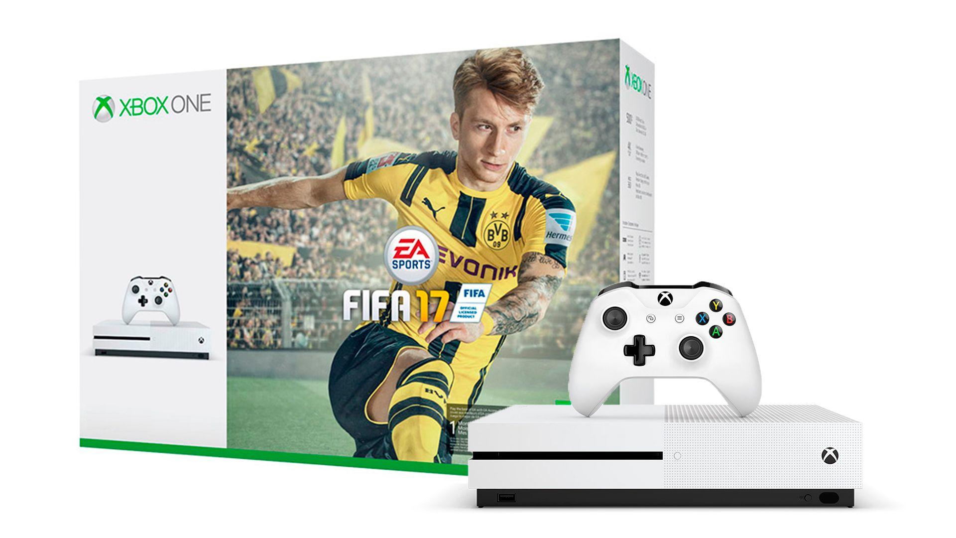 Xbox One S 1TB игровая приставка и игра FIFA 17 [SXO1F]