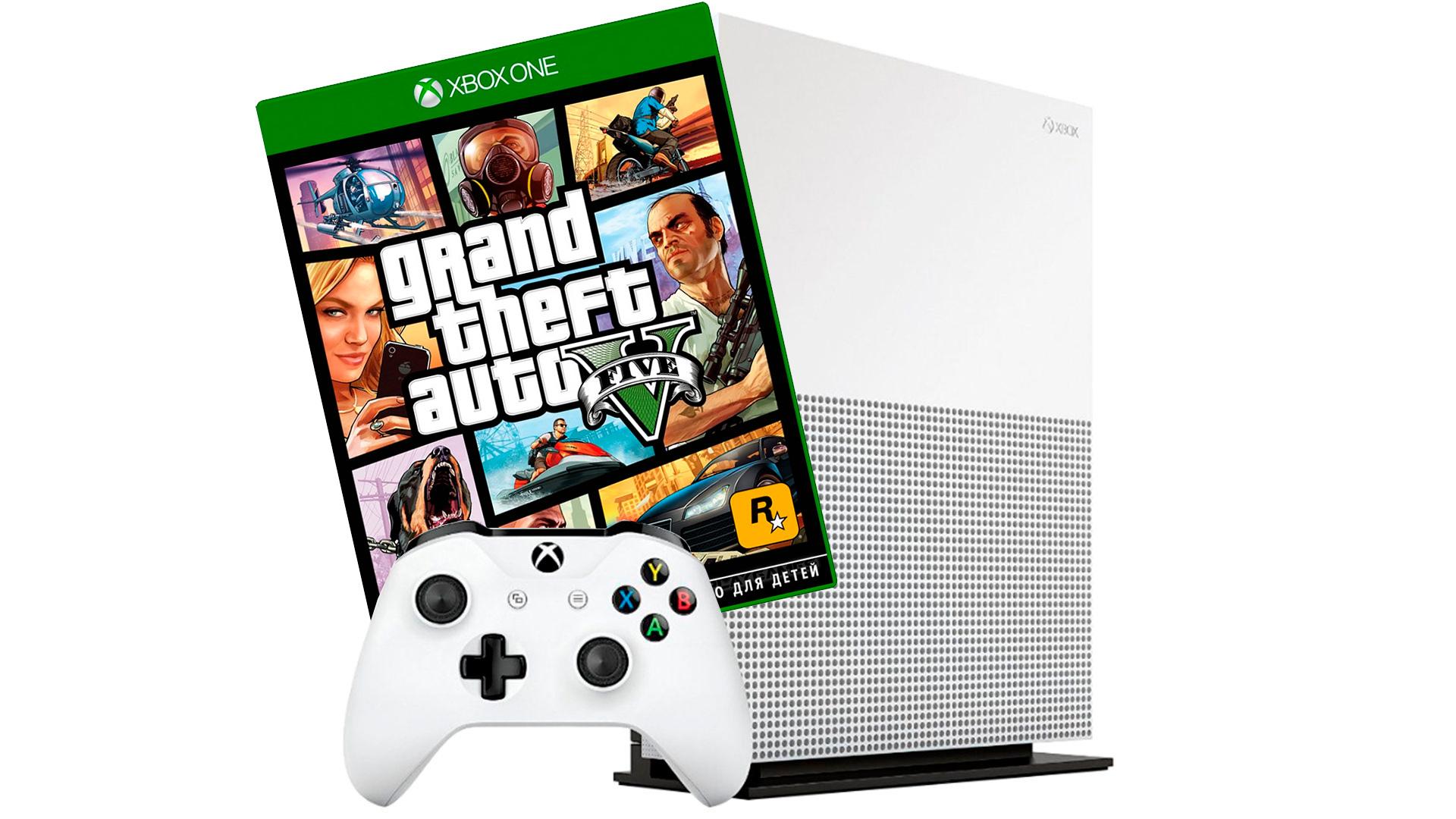 Xbox One S 1Tb и игра Grand Theft Auto V [SXO1GTA]