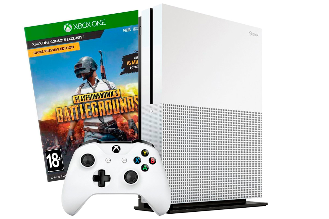 Xbox One S 500Gb и игра PlayerUnknown's BattleGrounds [SXO5BTG]