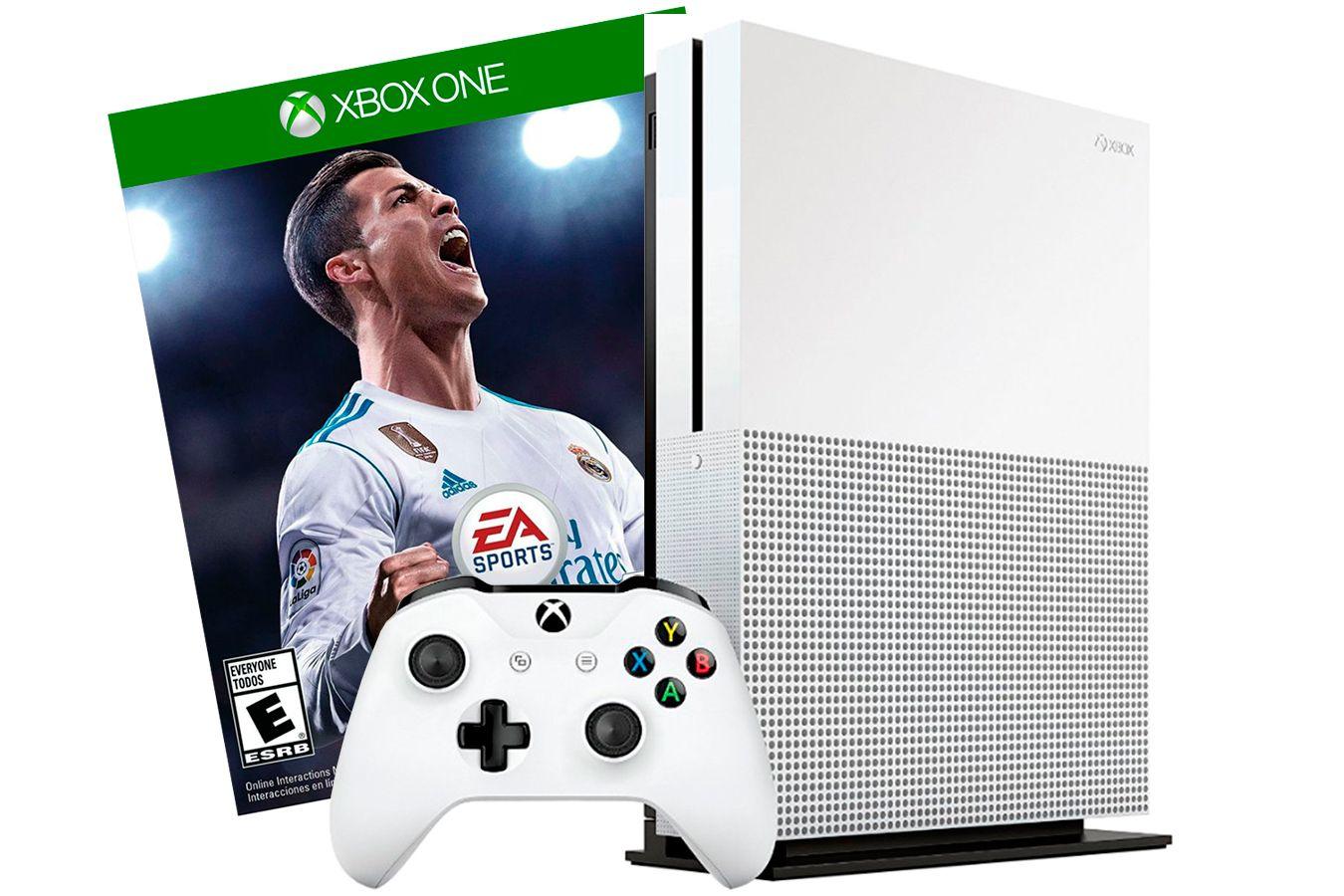 Xbox One S 500Gb игровая приставка и игра FIFA 18 [SXO58F]