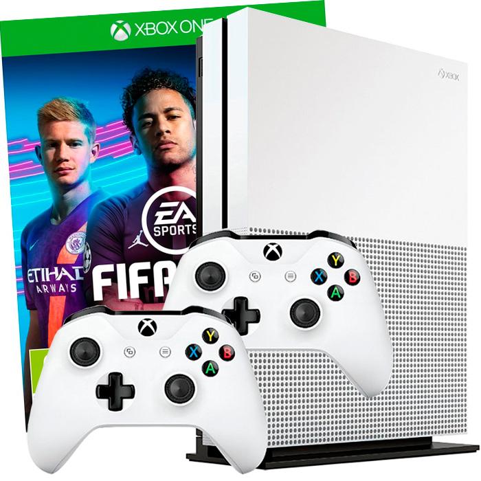 Xbox One S 500Gb FIFA 19 2 джойстика