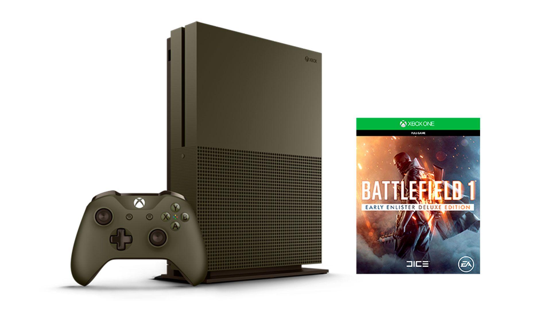 Xbox One S 1Tb Battlefield 1 приставка специальной серии [SXO1SEB]