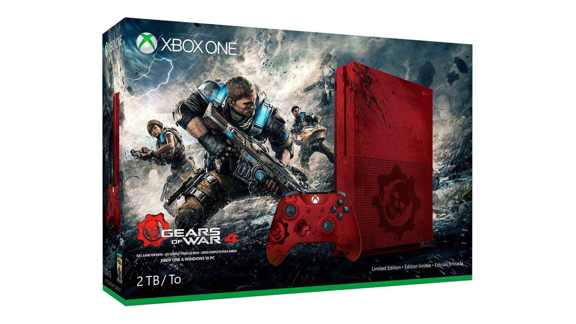 Xbox One S 2Tb Gears of War 4 приставка лимитированной серии [SXO2GWR]