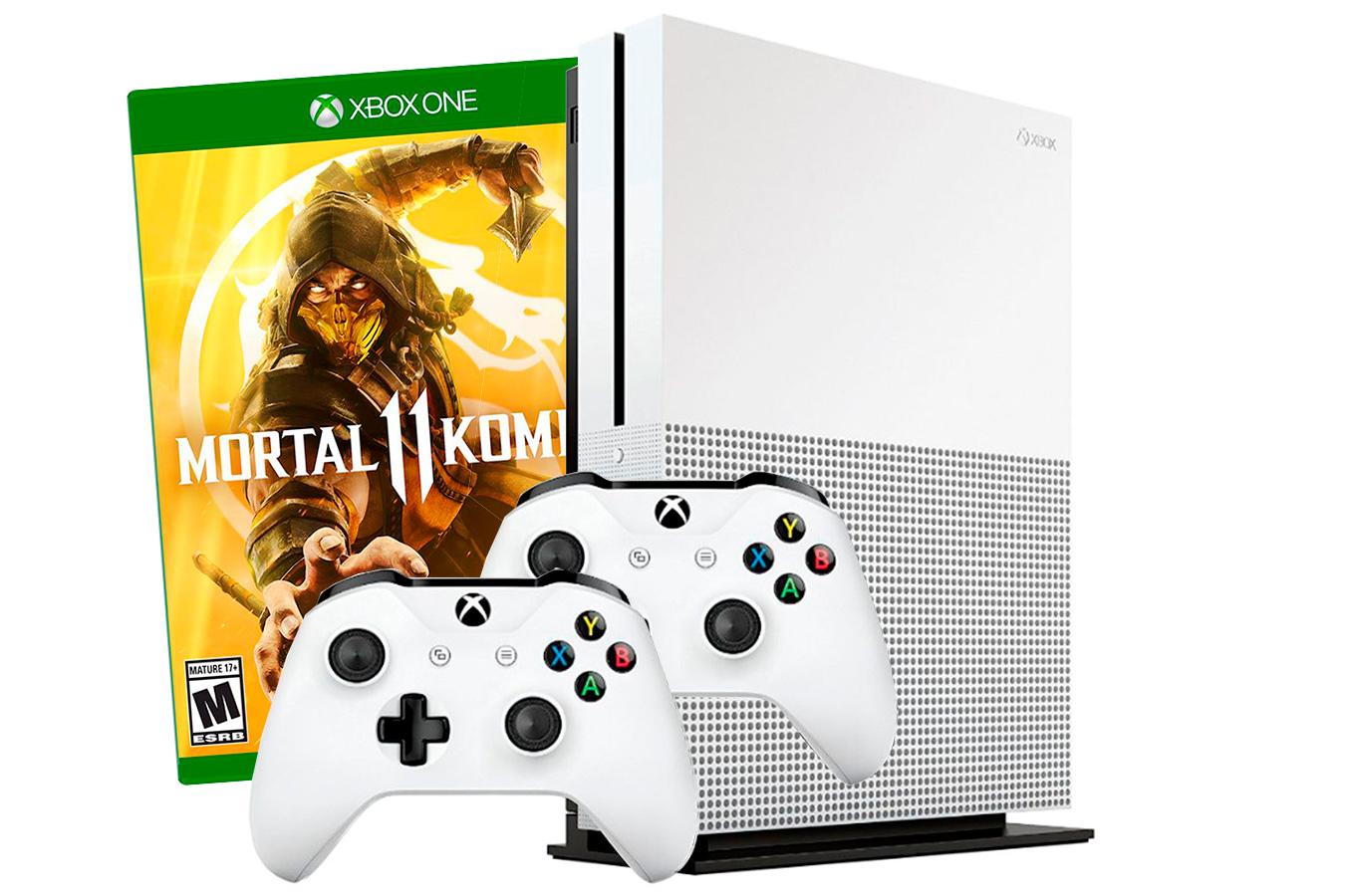 Xbox One S 1Tb Mortal Kombat 11 и 2 джойстика [SXO1112]