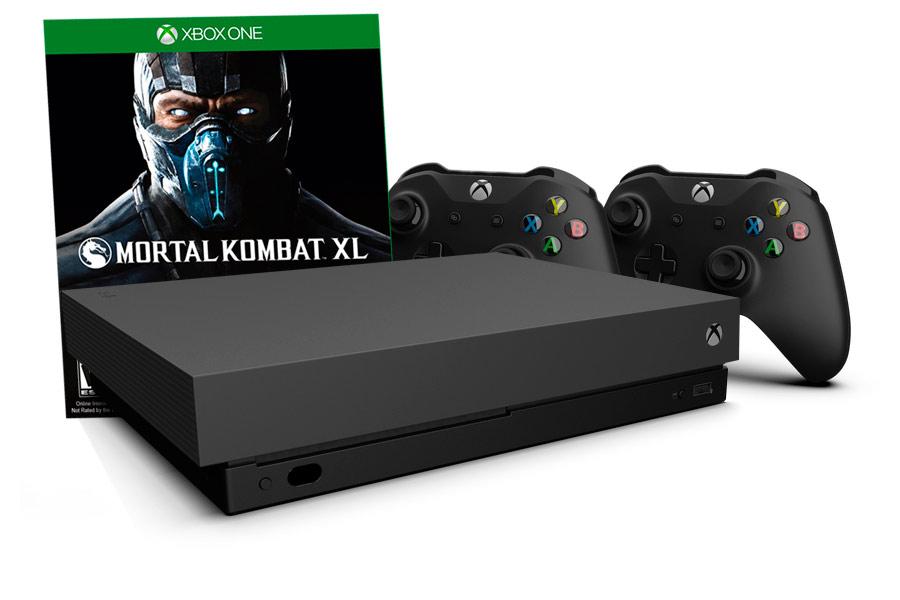 Xbox One X игра Mortal Kombat XL и 2 джойстика [XXO12MXL]