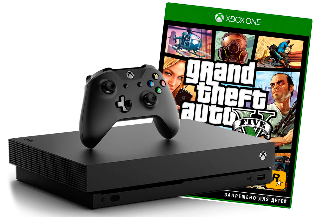 Xbox One X с игрой Grand Theft Auto V [XXO1GTAV]