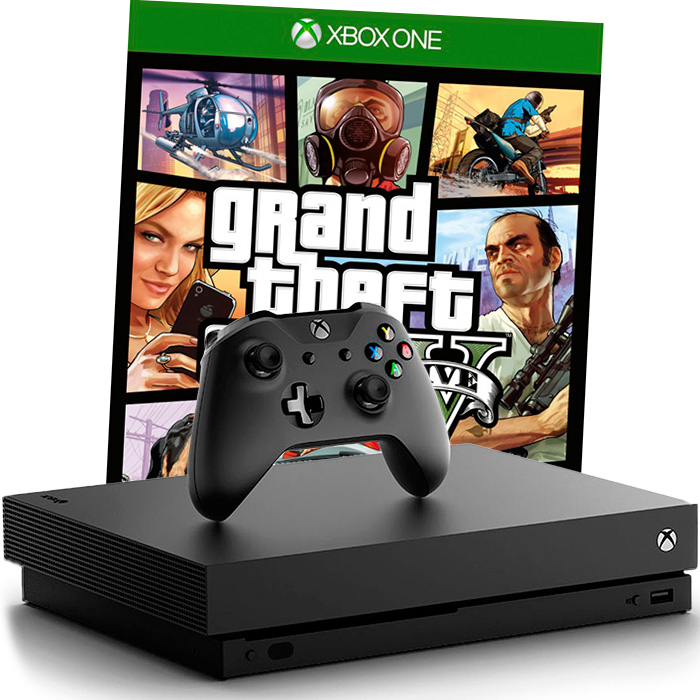Xbox One X и GTA V