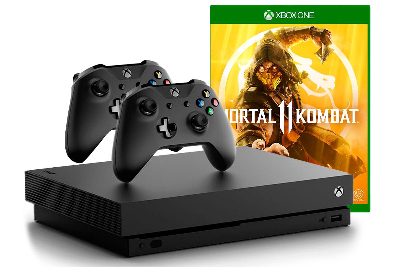 Xbox One X игра Mortal Kombat 11 и 2 джойстика [XXO12M11]