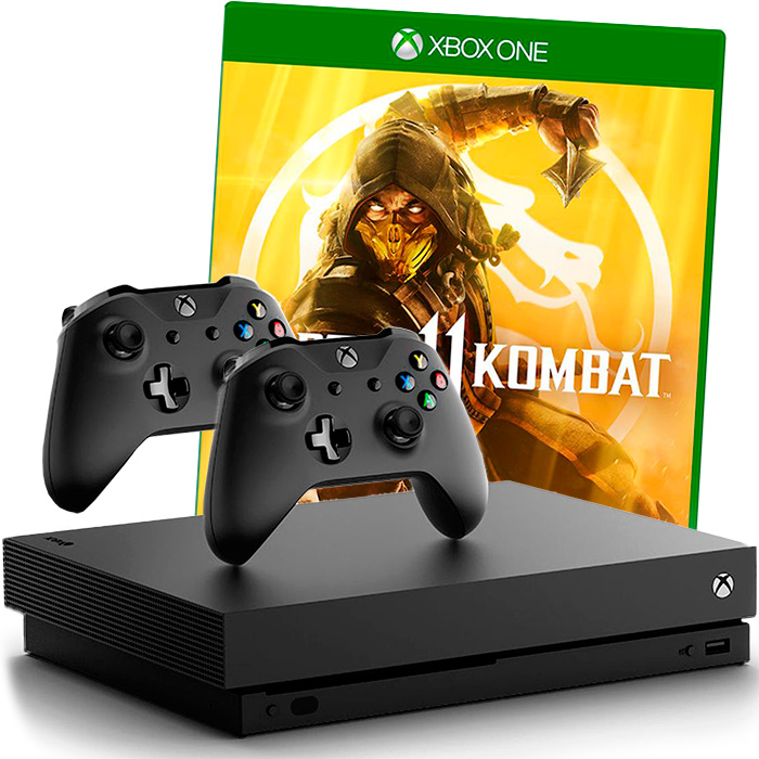 Xbox One X Mortal Kombat 11 2 джойстика