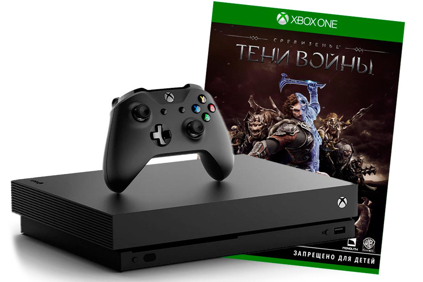 Xbox One X с игрой Средиземье: Тени войны [XXO1STV]