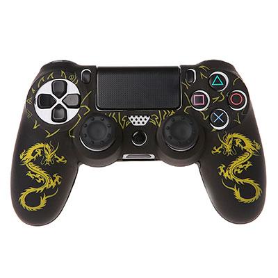 DualShock 4 силиконовый чехол Желтый Дракон