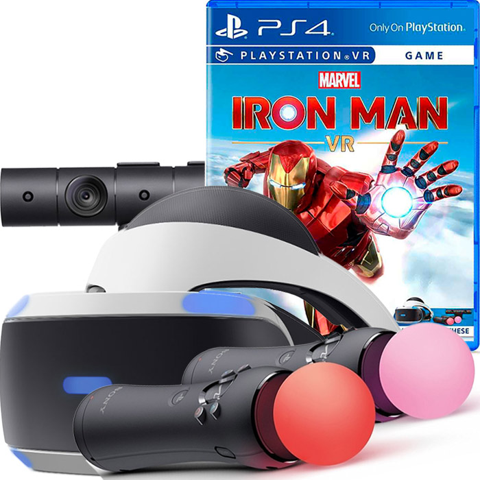 sony playstation vr iron man bundle [psvr-irm]