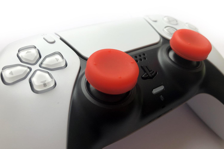 Набор красных накладок на стики DualSense