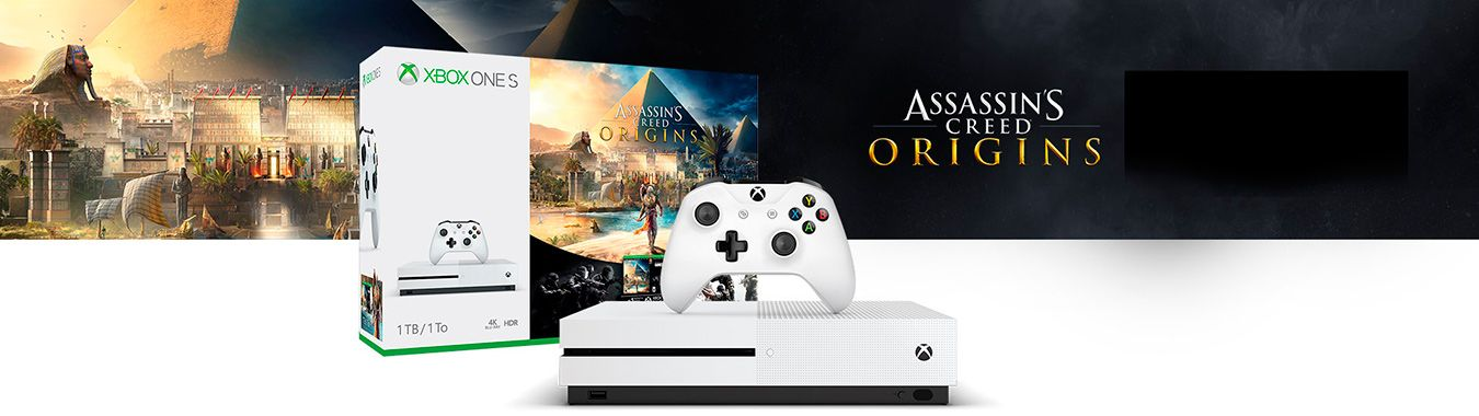 Xbox One S 500Gb и игра Assassins Creed: Origins